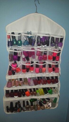 Dollar General makeup organizer used to organize nail polish