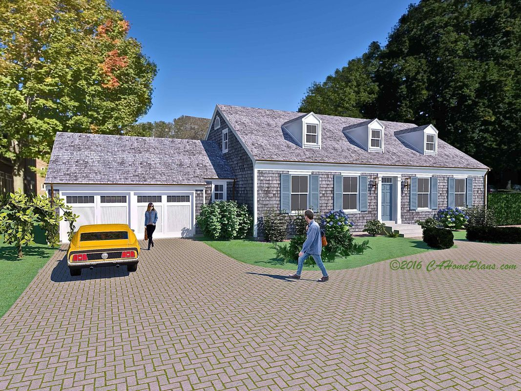 Large Cape Cod Colonial Revival Home Design This Is The Newport Crest And Plans Available From Cahomeplans Capecodhome