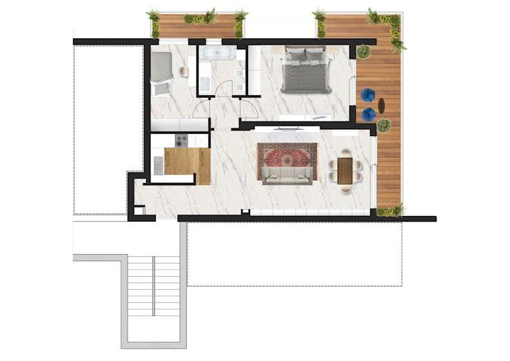 Progetto Ristrutturazione Appartamento 60mq A Roma