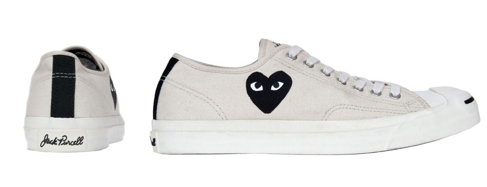 cd507a2f5878 CDG PLAY x Converse Jack Purcell (White)