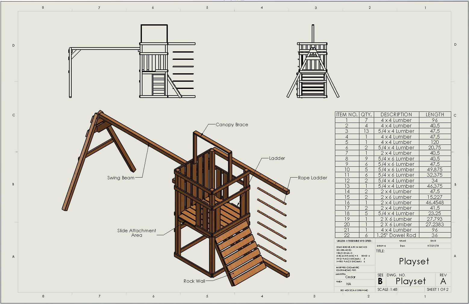 cad plans for a playset kids pinterest tree houses and house
