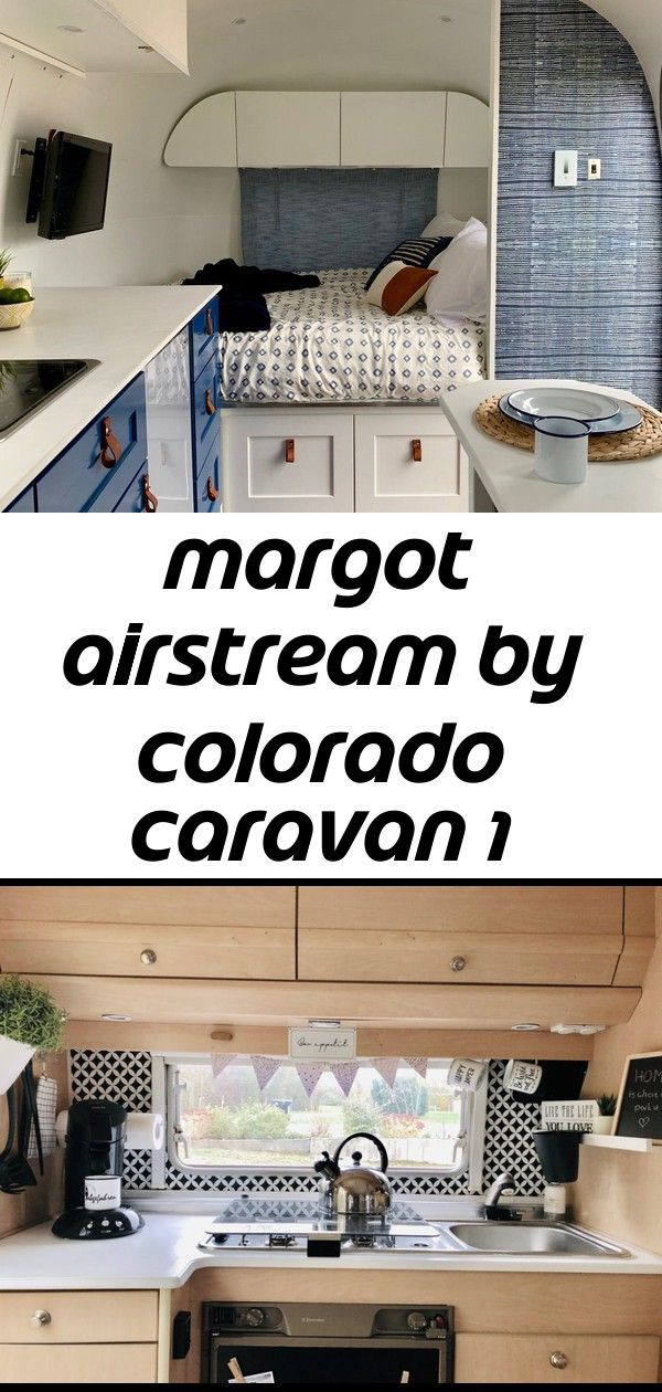 Margot airstream by colorado caravan 1 The couple designed the new layout to include a full bed, which is located on the right upon entering the trailer. Here,