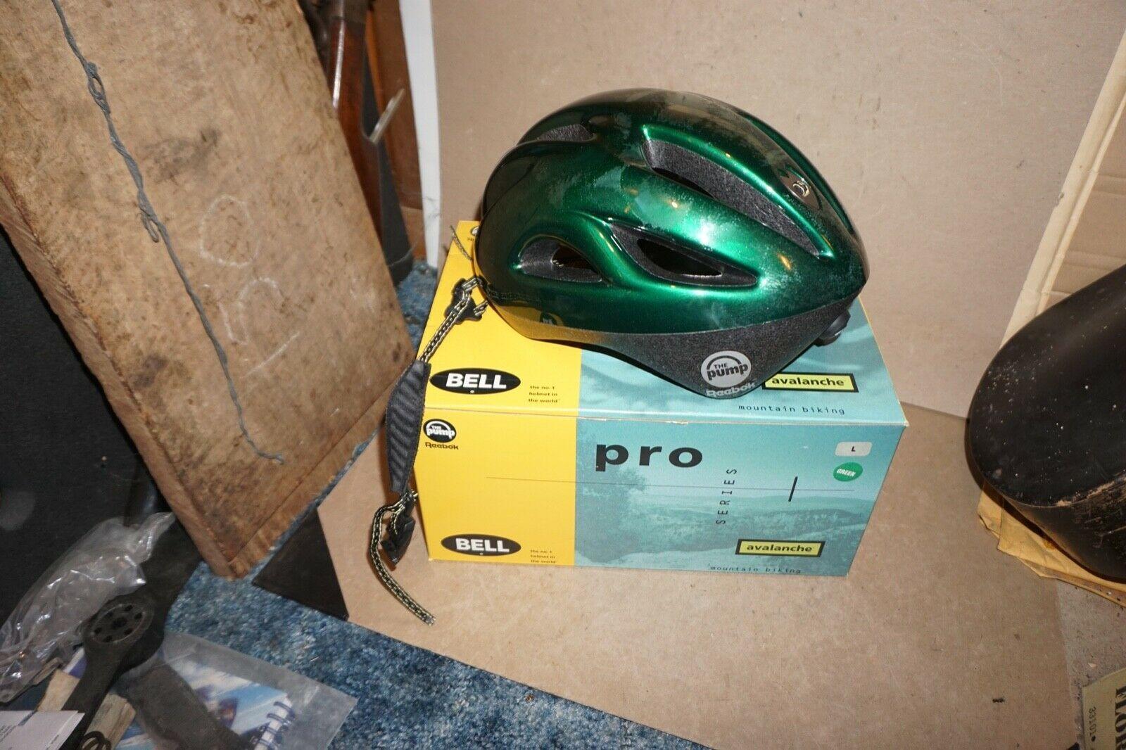 Used Bell Avalanche Reebok Pump Pro Mountain Bike Helmet Green