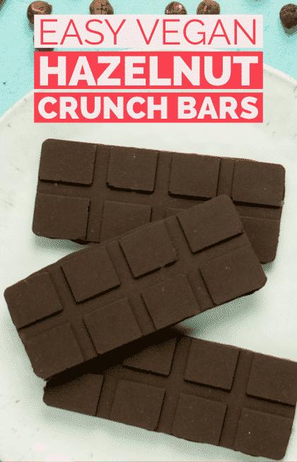 Vegan Nutella Crunch Chocolate Bar Recipe 2 Ingredients Recipe Chocolate Bar Recipe Vegan Christmas Desserts Bars Recipes