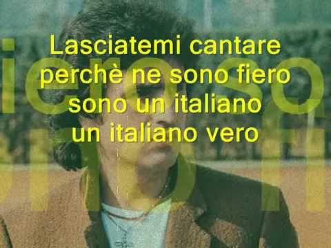 L'italiano ( l asciatemi cantare ) Toto Cotugno - lyrics ...