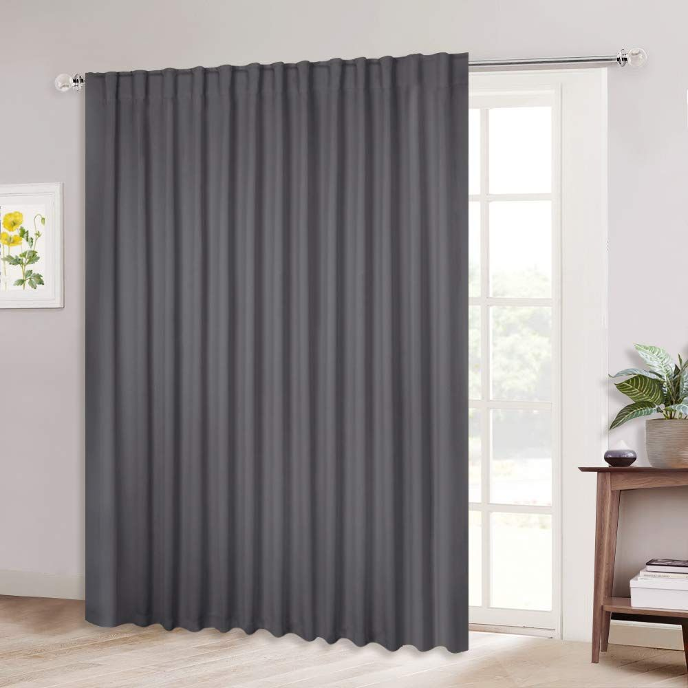 Nicetown Patio Door Curtain Slider Blind Wide Width Blackout Curtains Drapes With Rod Pocket Amp Bac In 2020 Sliding Glass Door Curtains Insulated Curtains Curtains