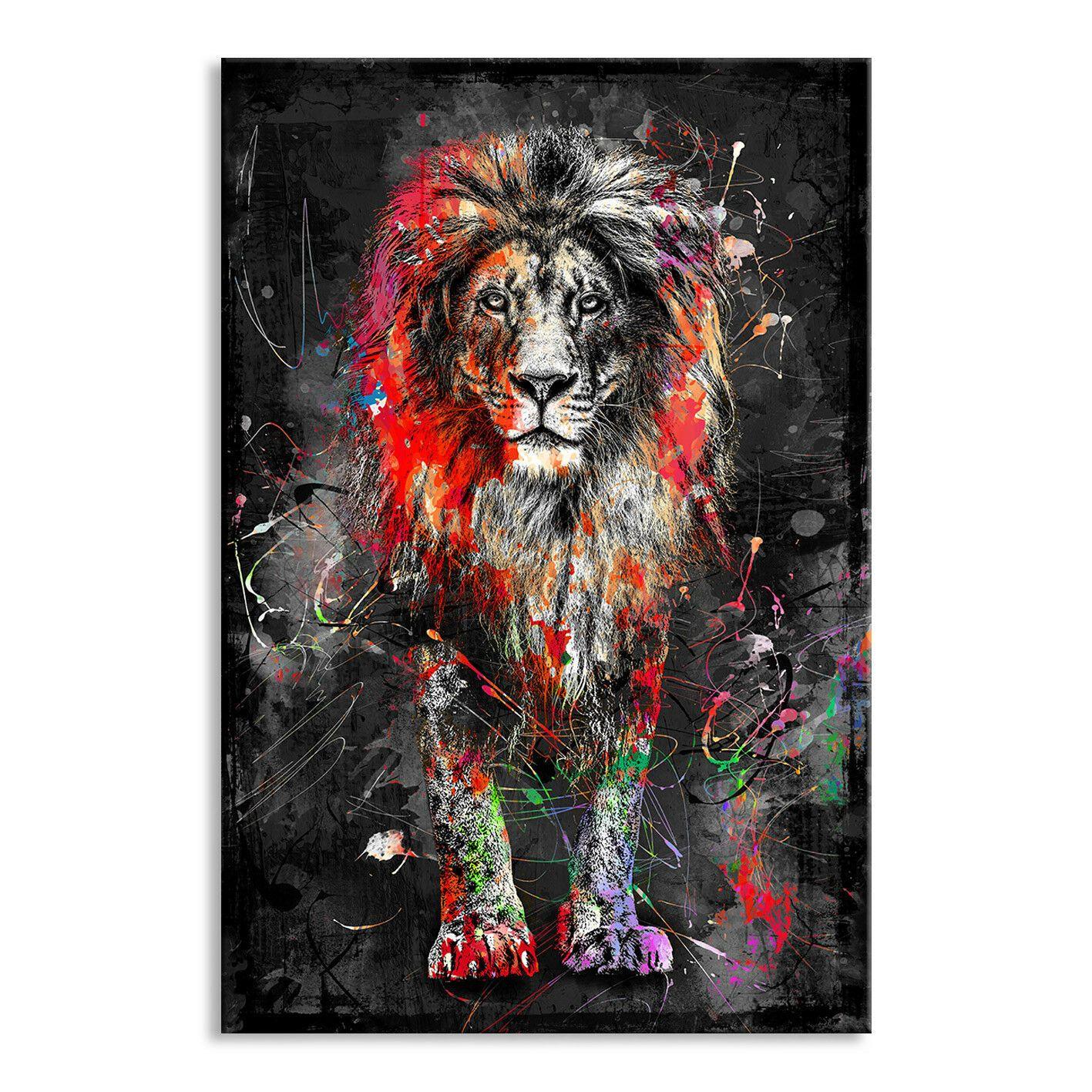 Leinwand Bild Xxl Abstrakt LÖwe Lion Natur Deko Wandbilder Kunstdruck Canvas Ebay Wandbild Löwe Leinwand Malerei Ideen Leinwand