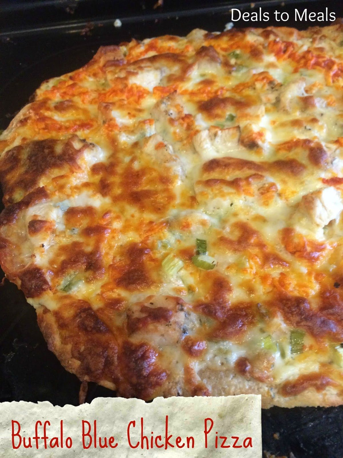 favorite pizza recipes, homemade pizza crust, homemade pizzas, Easy Meal Ideas, Sweet Thai Chicken Pizza, Buffalo Blue Chicken Pizza, buffalo recipe, rock creek pizza, Deals to Meals