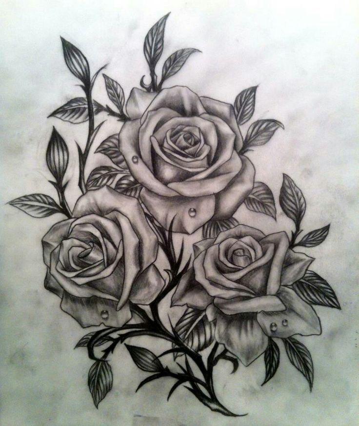 tatouage rose dessin