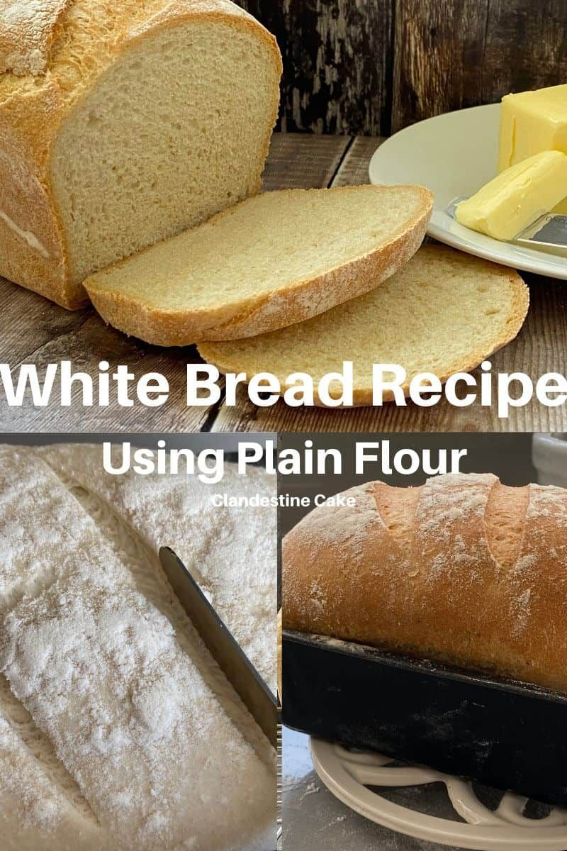 This White Bread Recipe Uses Plain Flour And Fast Active Dried Yeast It S Such An Easy Recipe To Make If You Easy White Bread Recipe Recipes Buns Recipe Easy