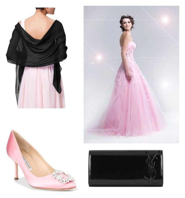 """Alice ball gown"" by jen-gardiner on Polyvore featuring Manolo Blahnik and Yves Saint Laurent"