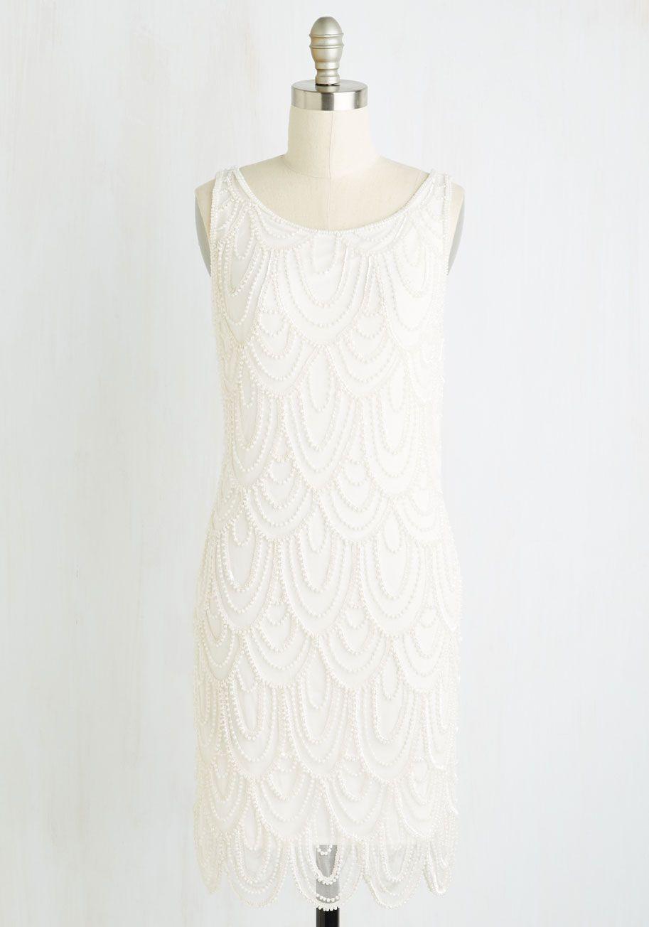 Vintage wedding dress under 500  Hell Bunny Fab Fringe Long Sleeve Dress  White shift dresses