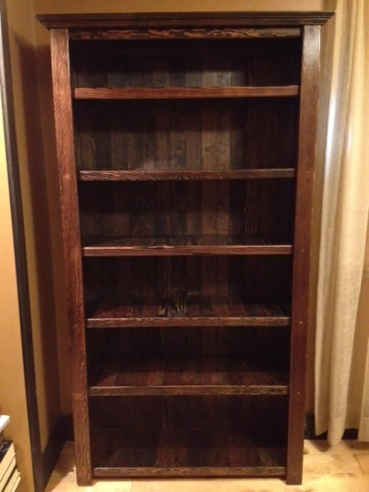Douglas Fir Bookcase Staining Wood