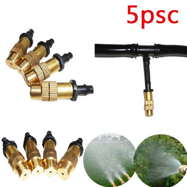 2017 Garden Sprinkler Spray Nozzle Adjustable Brass Misting Garden Hose Connector 5pcs Sprayer Sprinkler For Watering Irrigation Irrigation Sprinkler Heads