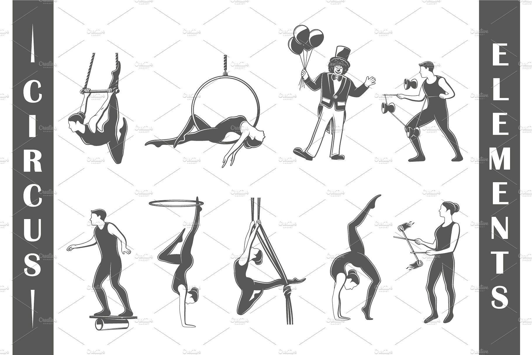 9 Circus Logos Templates Vol.1 easilyeditingtextchange