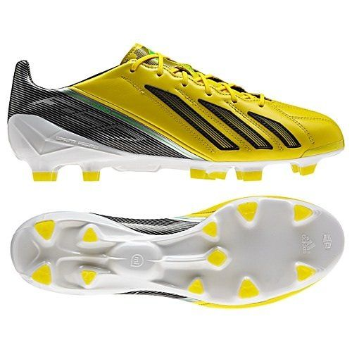 a3181eb1dbdde Adidas Adizero F50 TRX FG Yellow Black Leather Soccer Cleats Men Shoes  g65302