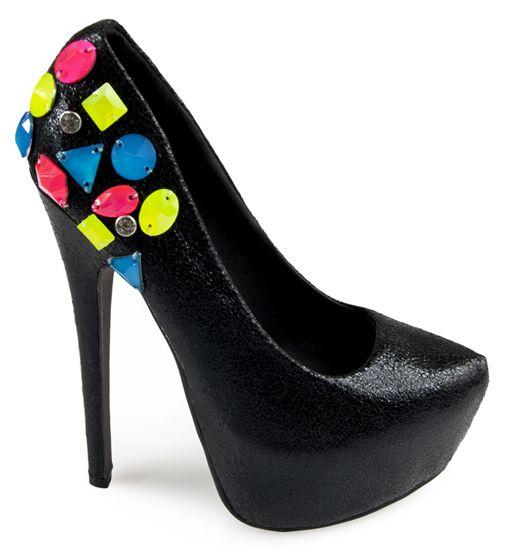 Szpilki Na Platformie Z Neonowymi Cyrkoniami Idealne Na Zblizajacy Sie Karnawal Heels Pumps Shoes