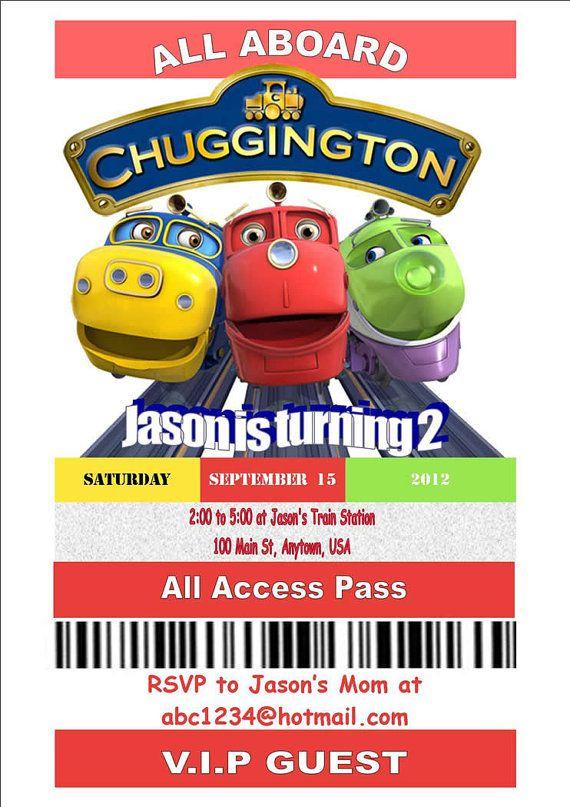 Chuggington Birthday Party Invitation by NanasNickKnacks on Etsy – Chuggington Party Invitations