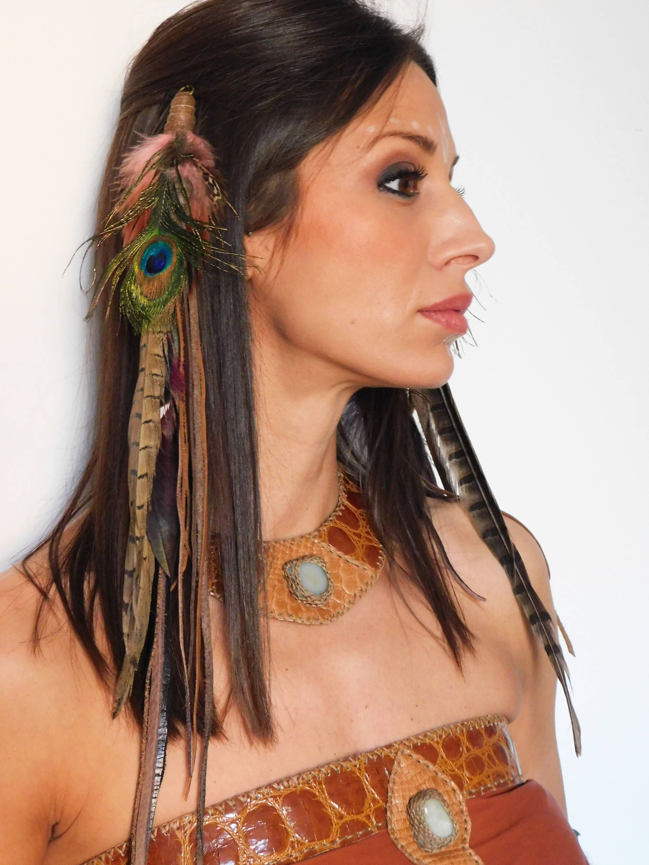 Long Feather Hair Extension Hair Feathers Feather Hair Clip
