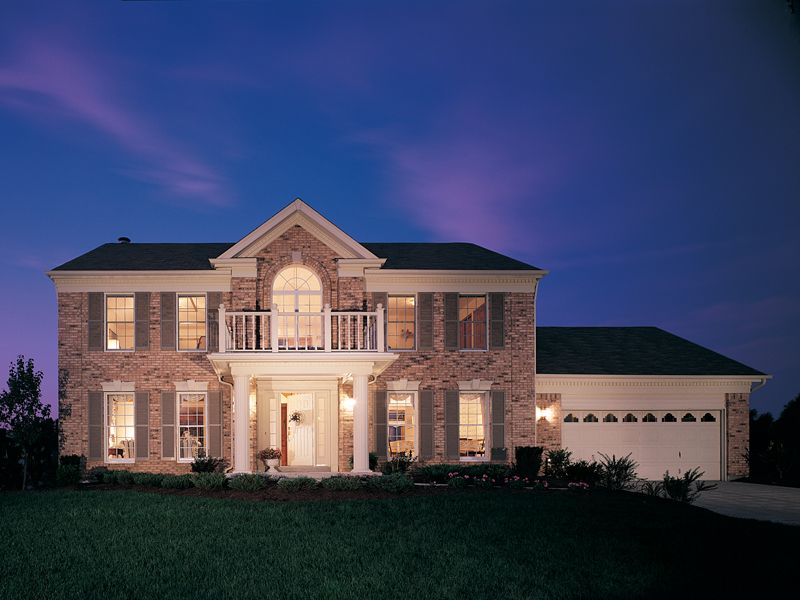 Hampshire colonial home plan 001d 0017 for Www houseplansandmore com