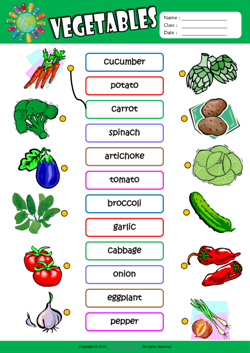 Vegetables ESL Matching Exercise Worksheet For Kids | mau hinh ...