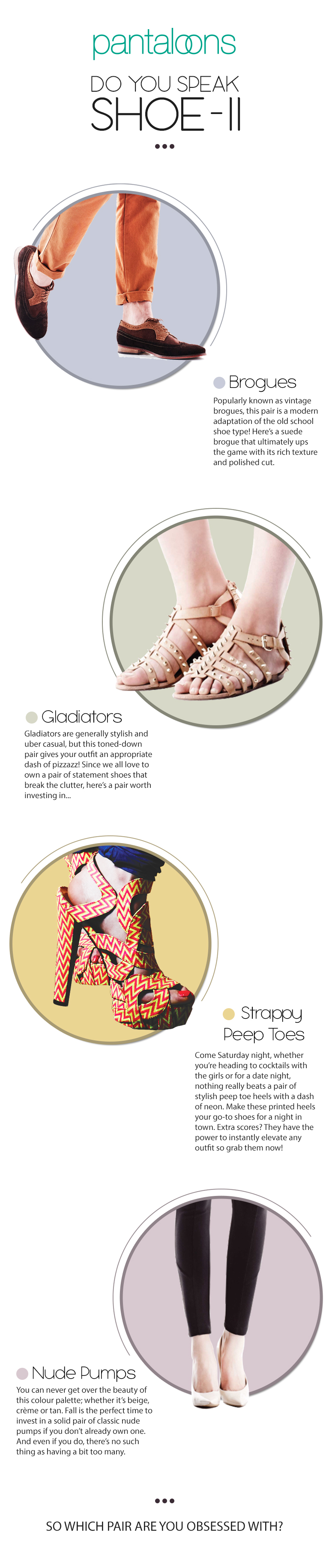 Do You Speak Shoe- II - Pantaloons Fashion