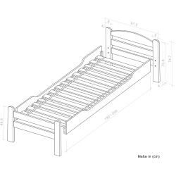 Photo of Single bed / guest bed Easy Premium Line K1 / 2n incl. 2 drawers and 2 cover panels, 90 x 200 cm W