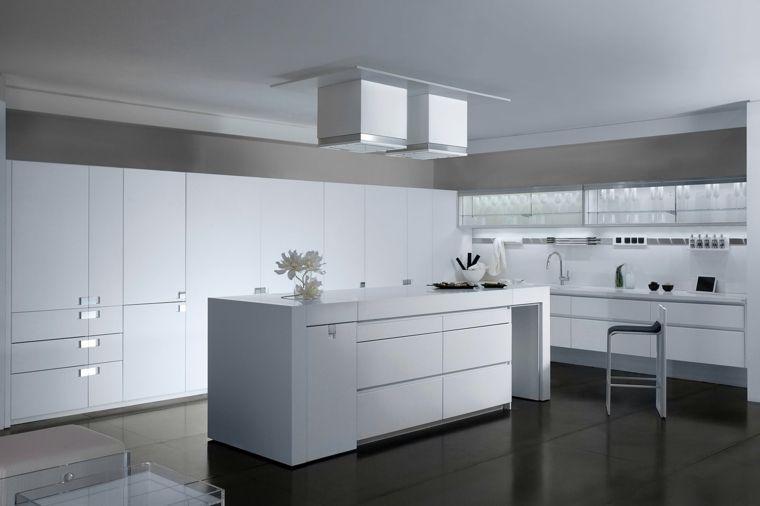 cocinas blancas brillo elegancia diseno moderno ideas Proyectos
