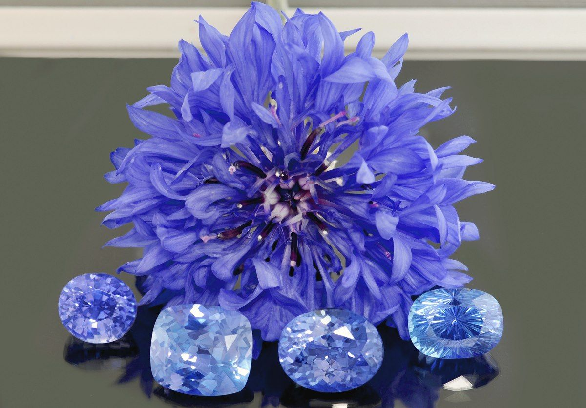 Cornflower and flawless, unheated, cornflower blue sapphires from Sri Lanka.