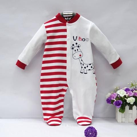 87432d83d816 2018 pure cotton newborn boy romper baby girl clothes cute infant sleepwear  winter spring hot kid long sleeve clothing suit