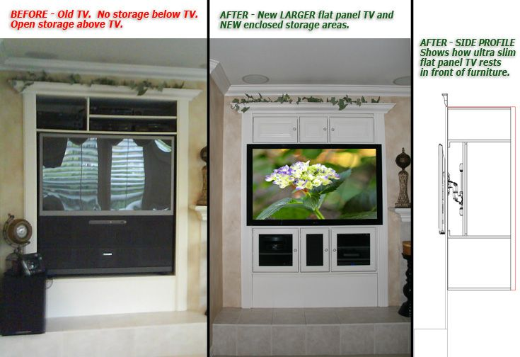 Modify A TV Armoire For A Larger Flat Panel TV