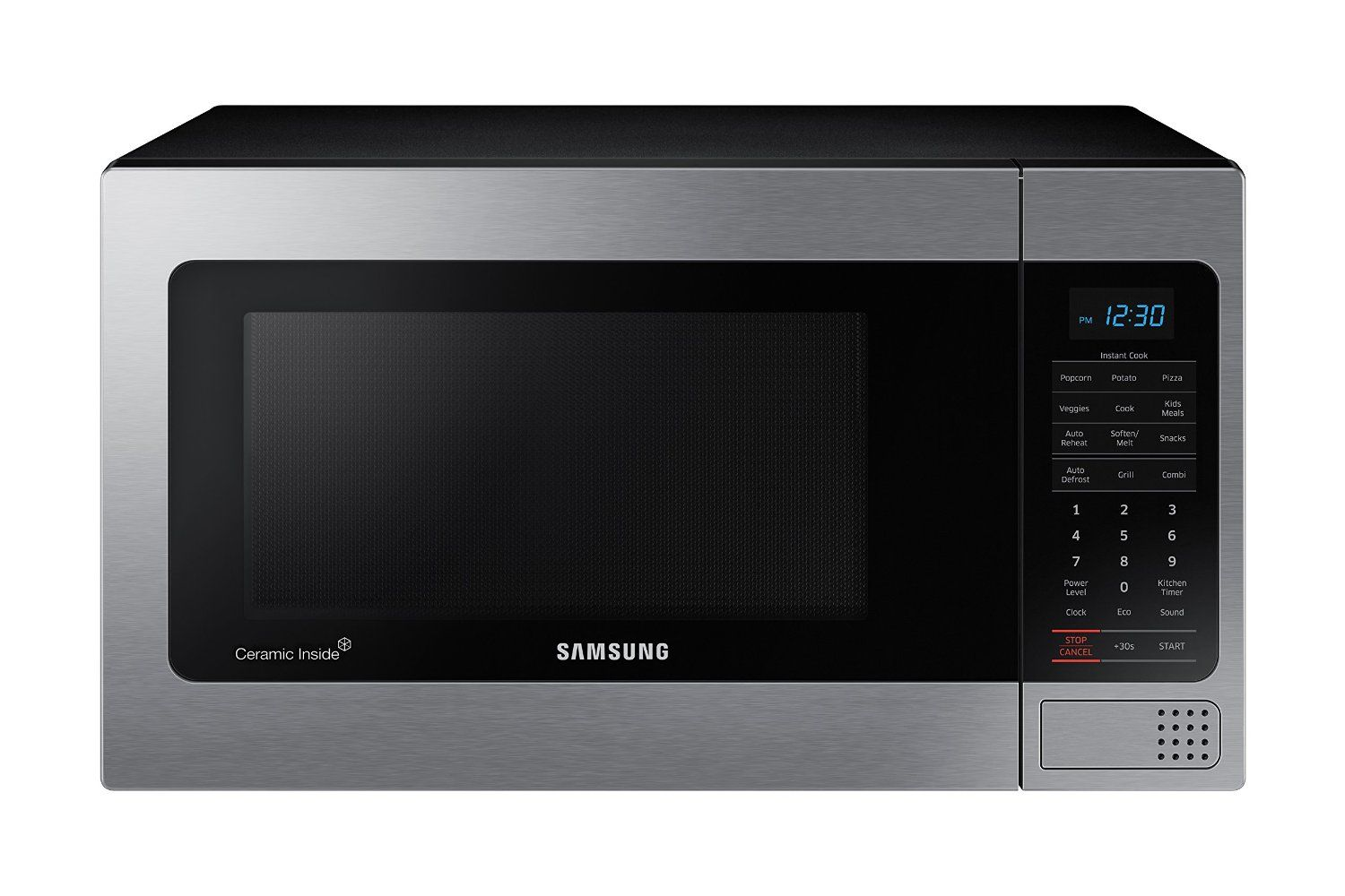 Samsung Counter Top Microwave 1 1 Cubic Feet Black With Mirror Finish This Is An Countertop Microwave Countertop Microwave Oven Stainless Steel Microwave