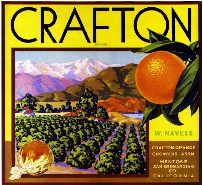Anaheim Hi-Class Mountie Orange Citrus Fruit Crate Label Art Print