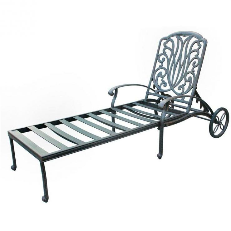 Iron Chaise Lounge Chairs Posture Correction Chair Cushion Aluminum Patio With Wheel Back