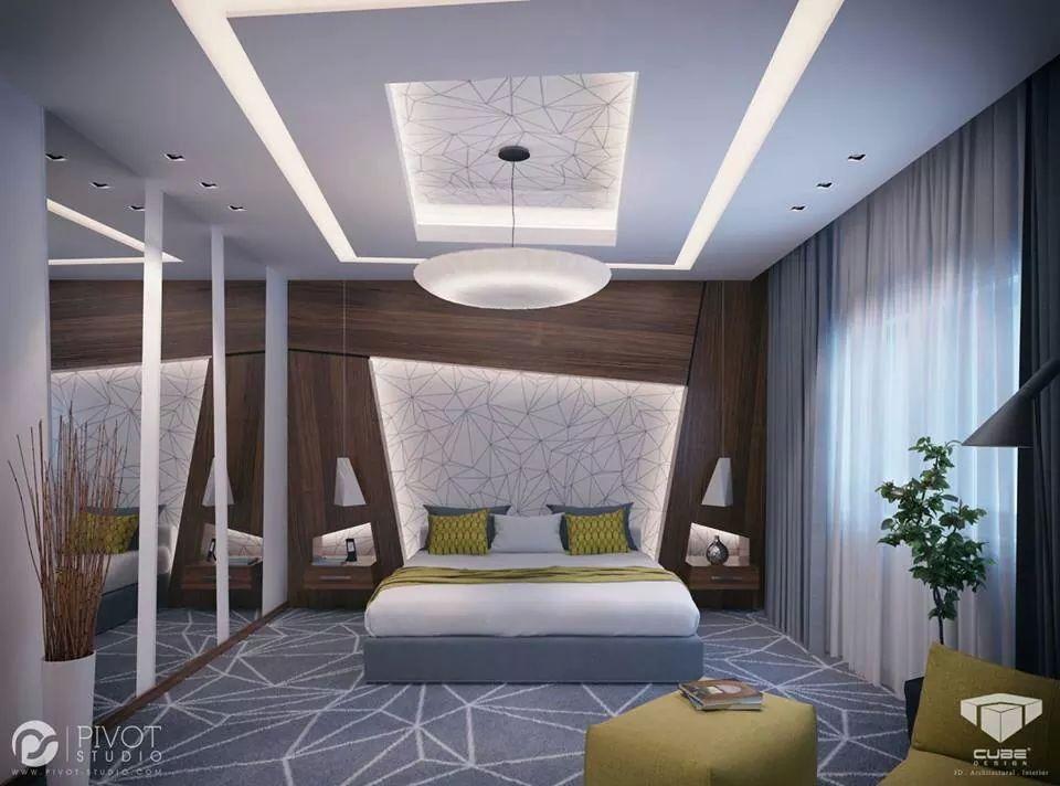 Pin de marcos bonilla en arquitectura pinterest for Plafones pared dormitorio