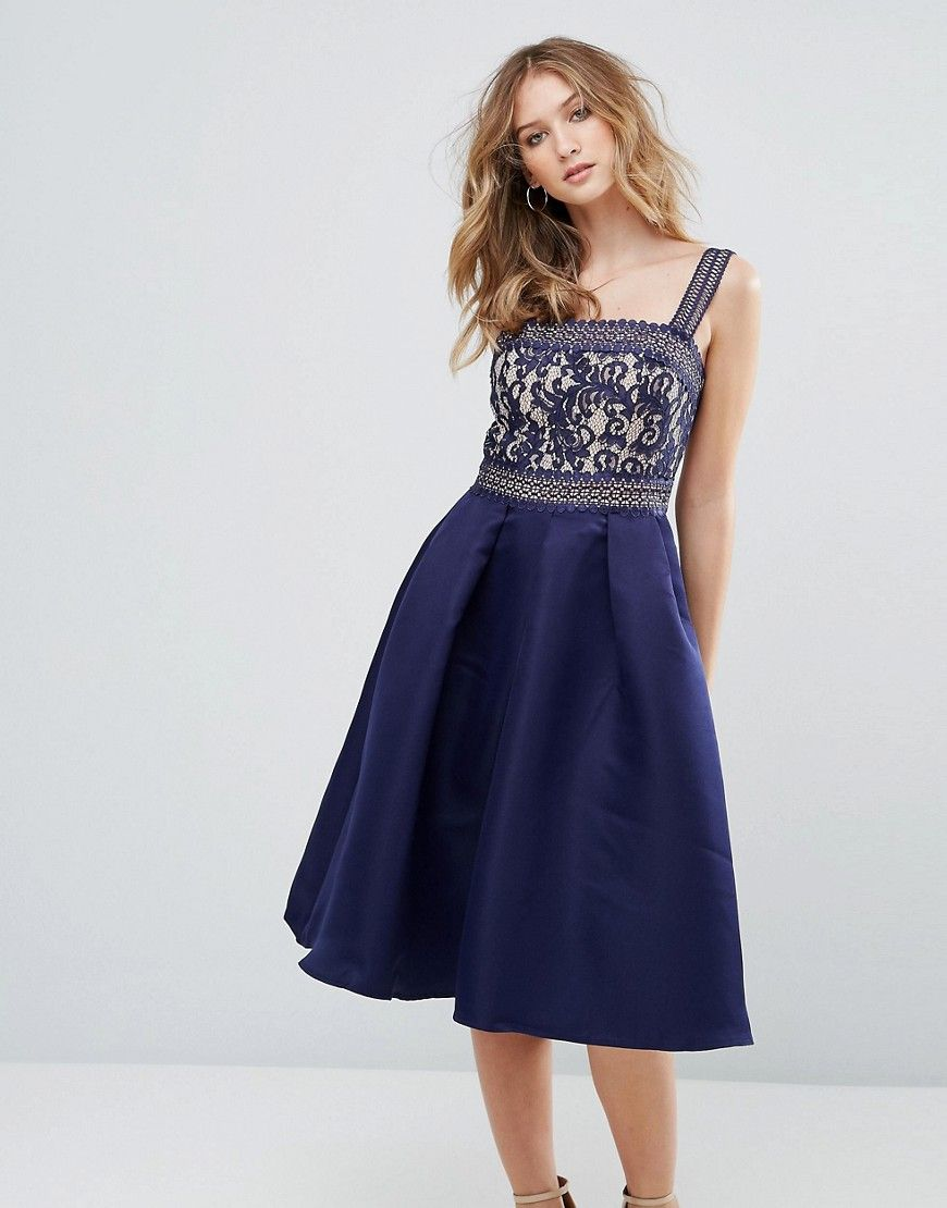 Lace dress navy  Little Mistress Crochet And Lace Dress  Navy  Products  Pinterest