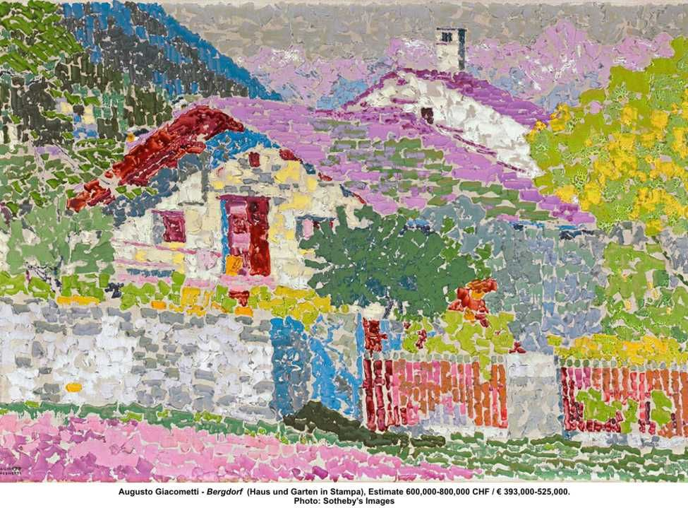 Augusto Giacometti - Bergdorf (Haus und Garten in Stampa - haus und garten