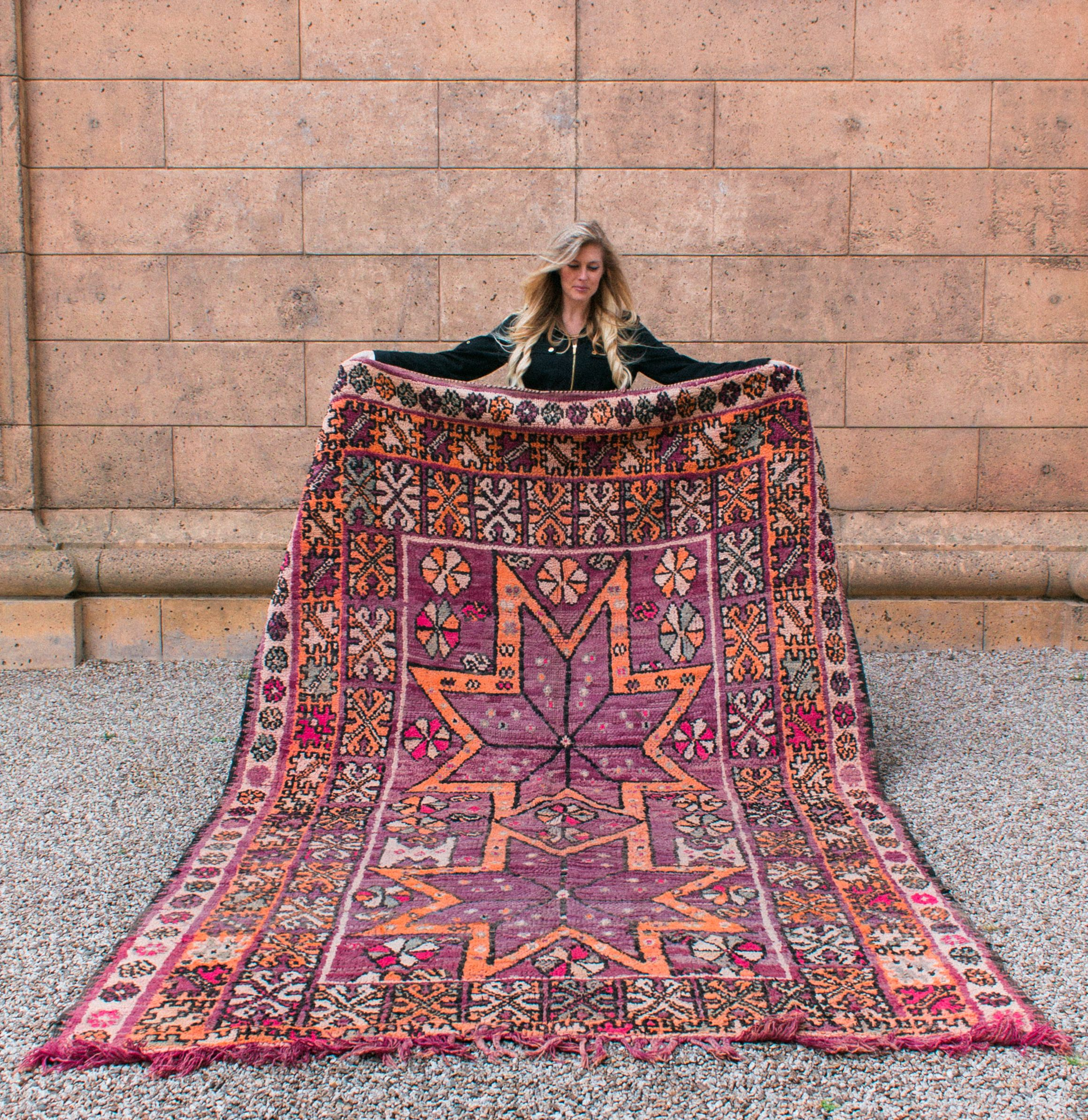 wool pile natural products beni tribal rug ourain x moroccan shag ouarain