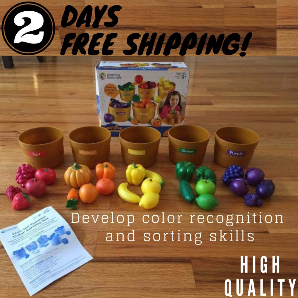 New Learning Resources Farmer S Market Color Sorting Set Hq Product Learningresources Visual Learning Style Visual Learning Learning Styles