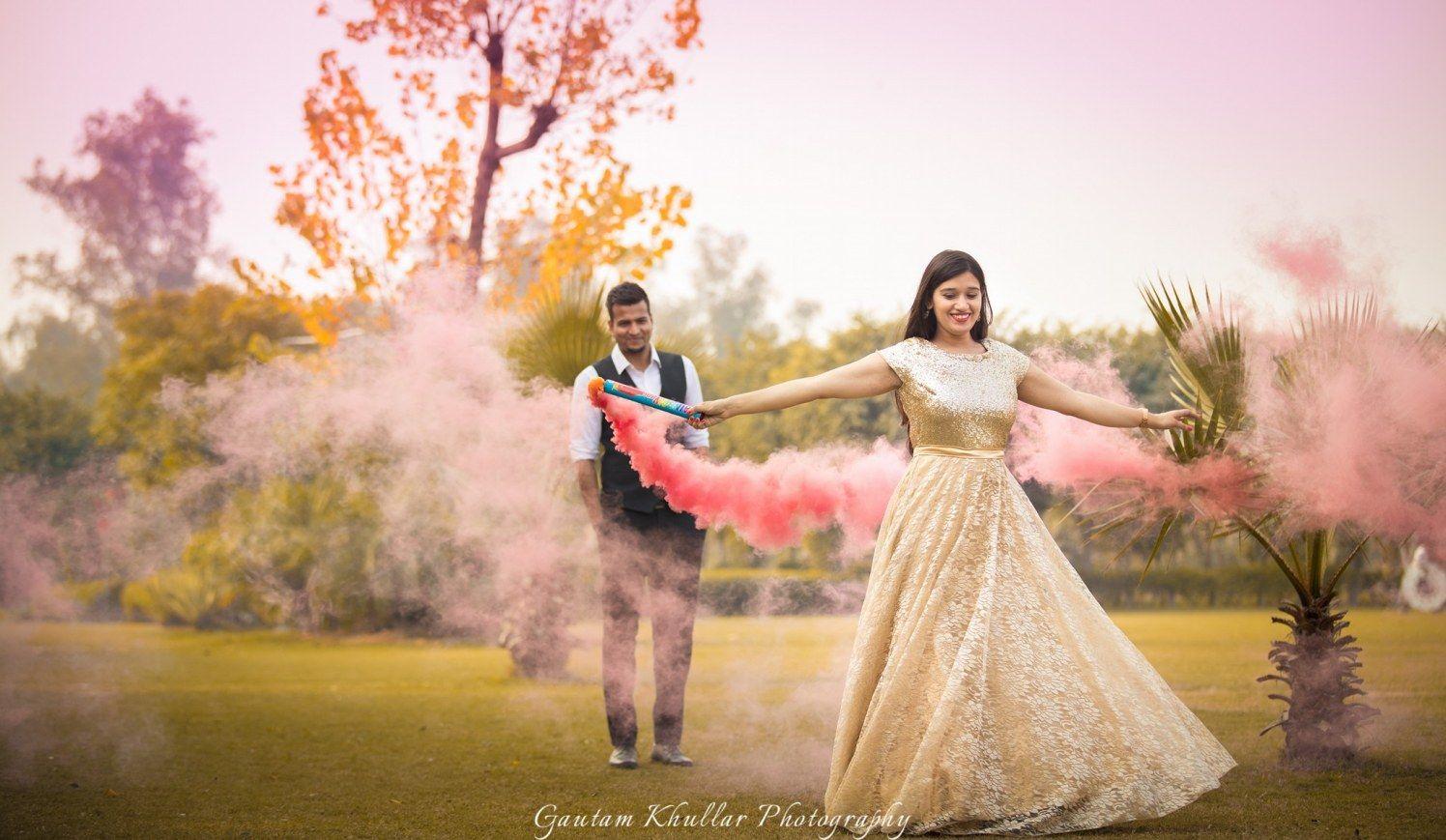 Creative Indian Wedding Outdoor Photoshoot