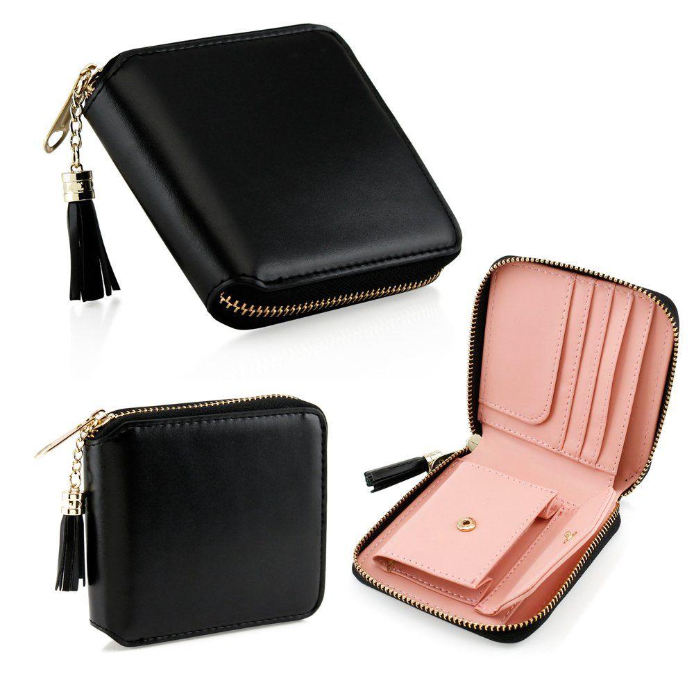 New Fashion Women Leather Small Mini Wallet Holder Zip Coin Purse Clutch Handbag