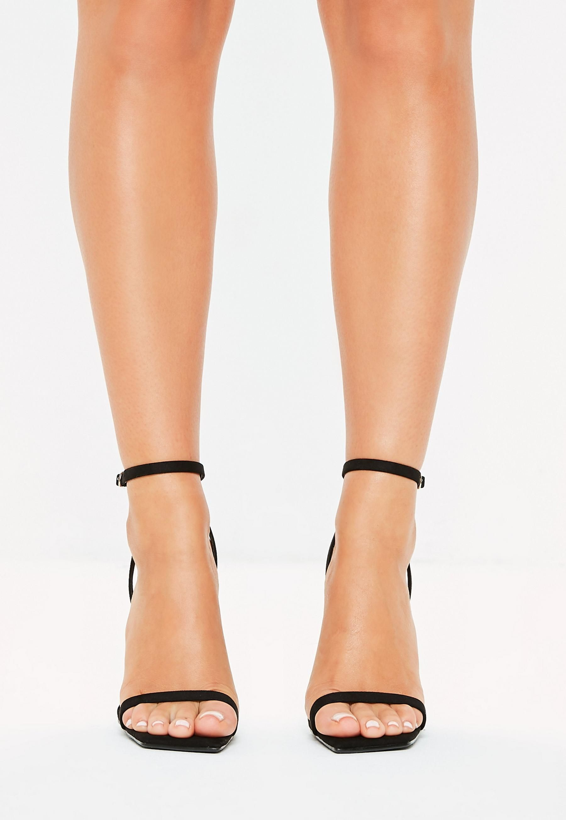 fb2f3a6d7ee Black Slanted Toe Barely There Heels in 2019 | S H O E S | Wedding ...