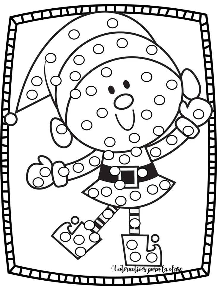 Bonitos Dibujos Navidenos Para Colorear O Pegar Bolitas De Papel Y Trabajar La Grafomotricidad Materia Dibujo Navidad Para Colorear Dibujos Navidenos Dibujos