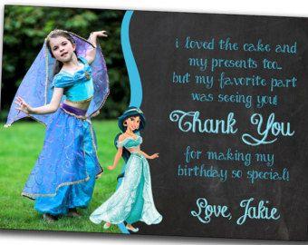 Printable Jasmine Birthday Invitations ~ Disney princess jasmine birthday card jasmine by printablestoyou