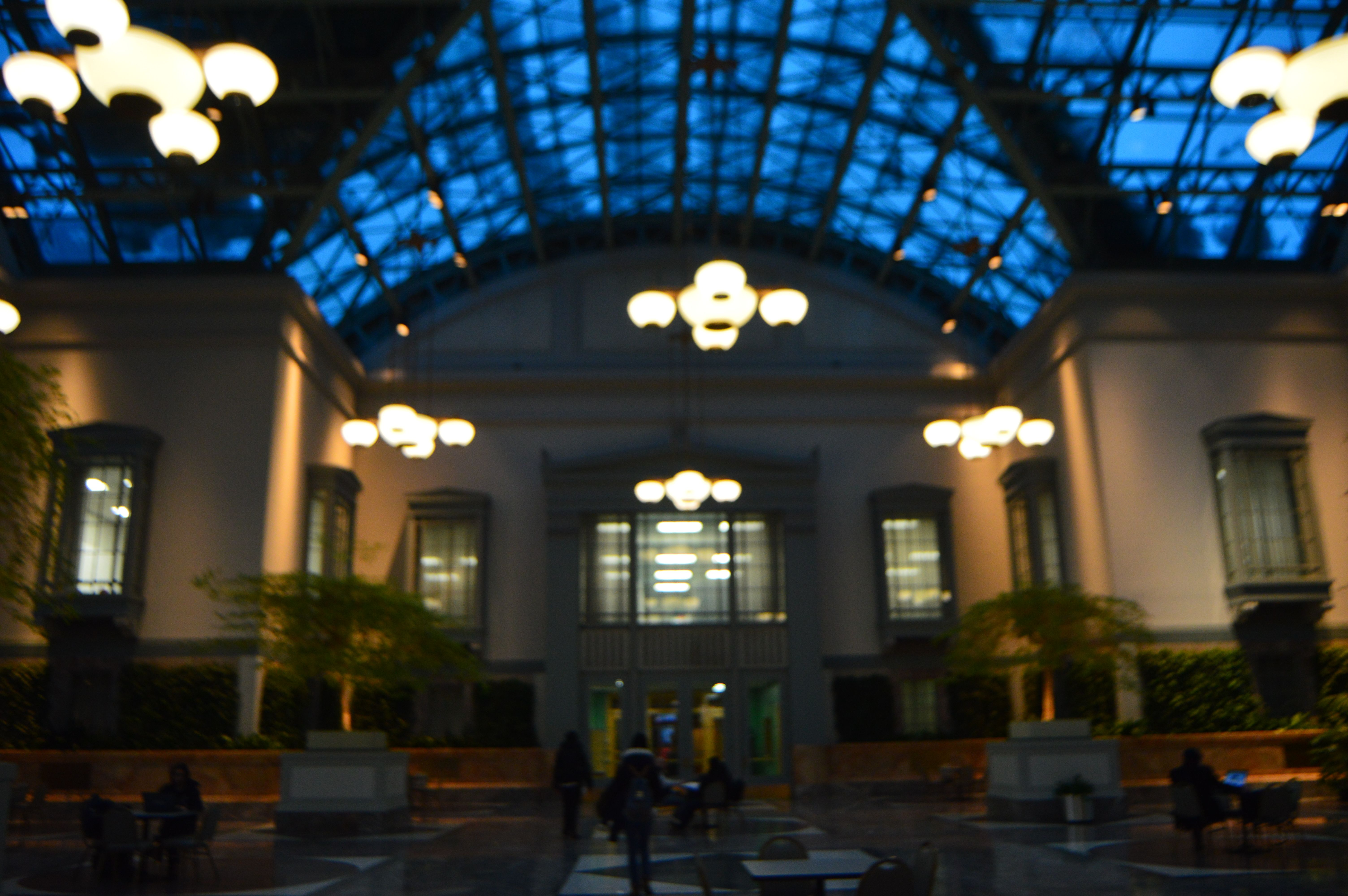 harold washington library winter garden in chicago il a great
