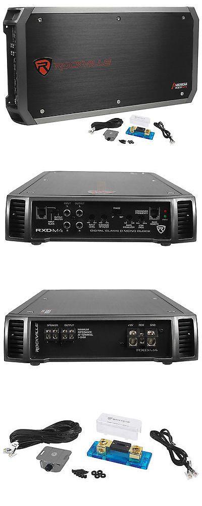 Rockville RXD-M4 6000 Watt//3000w RMS Class D 1-Ohm Mono Amplifier Car Audio Amp