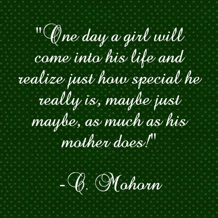 A Mother S Love For Her Son Is Unparelled She Better Realize What A