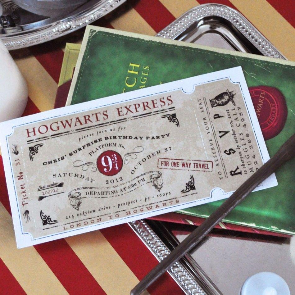 Magic Wizard Invitation Birthday Party Printable Invitation