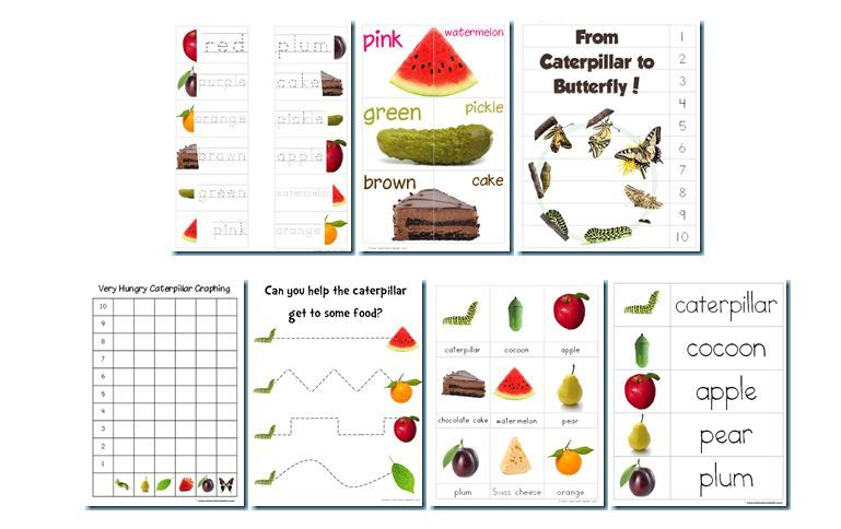 Free printables - The Very Hungry Caterpillar