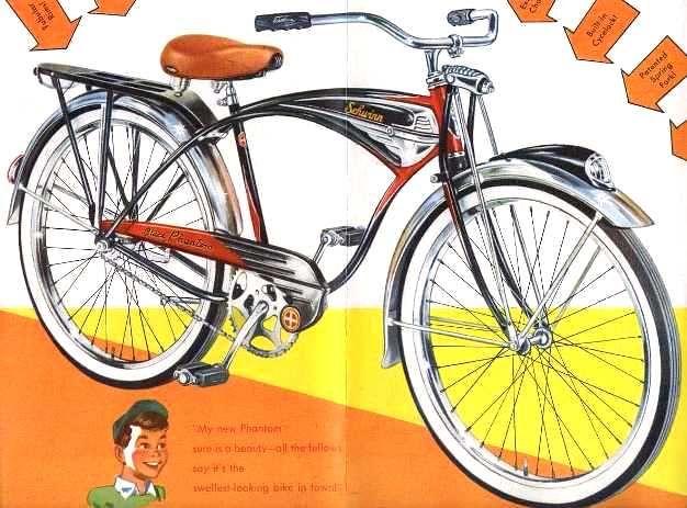 The Schwinn Phantom | 1952 Schwinn Catalog (resto reference